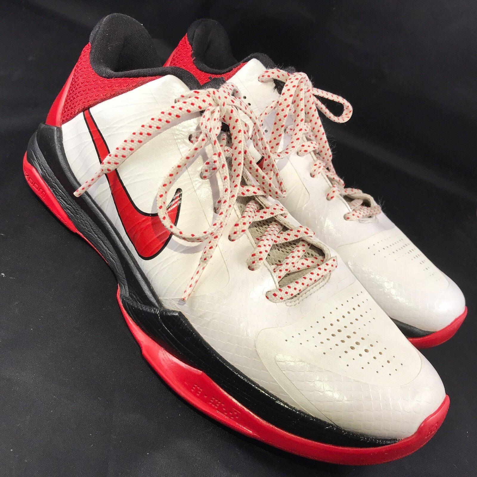 2018 Nike Zoom Kobe V 5 Valentines Day White Red Black 386429-161 US 8 41 EUR