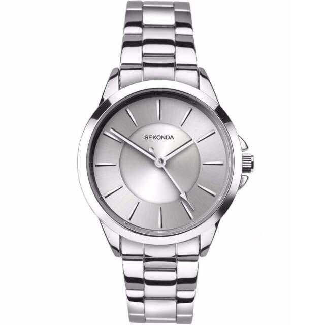 Sekonda Editions Silver Dial Stainless Steel Bracelet Ladies Watch 2455