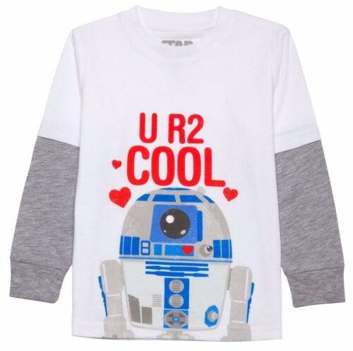 Star Wars Infant Toddler Boys U R2 Cool R2D2 Long Sleeve Valentine Shirt 12M 18M