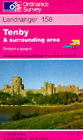 Tenby and Surrounding Area by Ordnance Survey (Sheet map, folded, 1990)