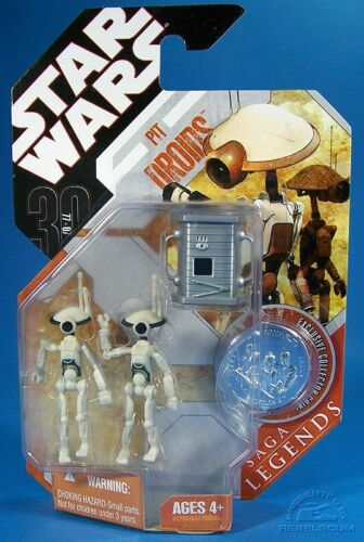 STAR WARS SAGA LEGENDS WHITE w// CONVERTER PIT DROIDS