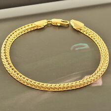 Handsome Wristband 14K Gold Filled Mens Stainless Steel Chain Snake Bracelet