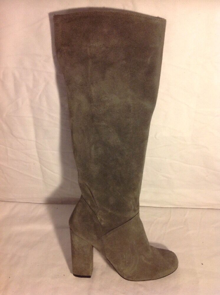 Next Grey Knee High Suede Boots Size 3