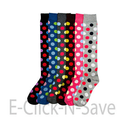 FASHION Women Knee High Multi Color Lace up Boot Fancy Design Socks 9-11