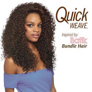 Dominican Curly Bundle Hair Outre Batik Quick Weave Synthetic Half