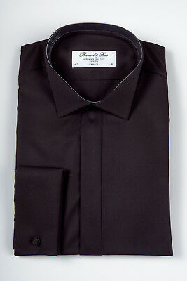 Details zu Smokinghemd Smoking Hemd Herrenhemd Anzug Bosweel weiss Kläppchenkragen