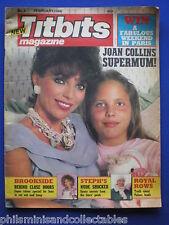 Titbits Magazine - Feb 1986 - Joan Collins, Brookside, Lisa Marie Presley