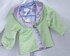 NEW Girls Jacket Green Minky Dots Light Coat Newborn 0-6 Months Baby Boo