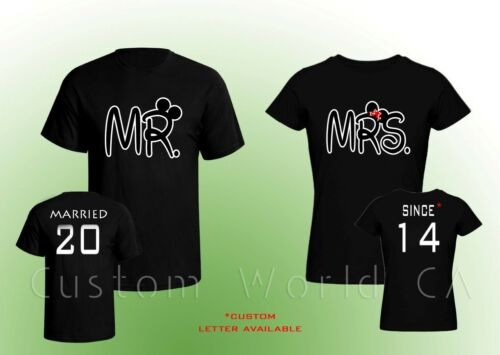 Married Since Shirts Mr and Mrs Couple T-shirt Couple Love Put the Dates Custom
