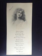 Ancien menu illustré 1905 Wichera