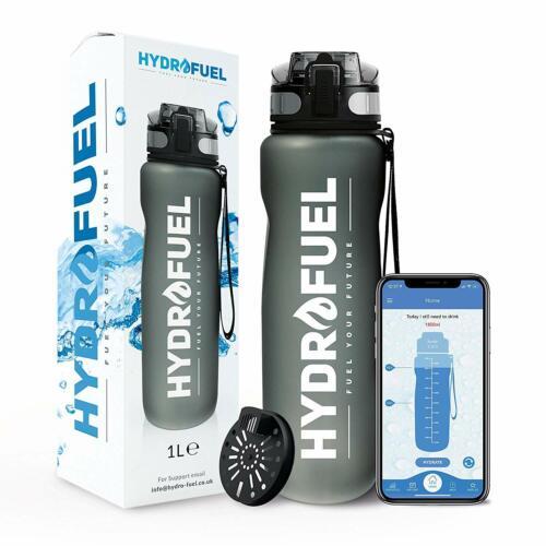 HydroFuel™ Sports Water Bottle 1 Litre FREE Motivational Hydration Reminder