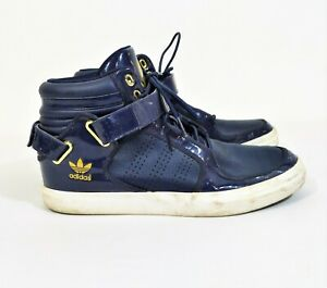 Alentar Monumental dolor  Adidas Men's Blue with Gold Adi-Rise Mid Ankle Strap Shoes G20517 Size 10.5  | eBay