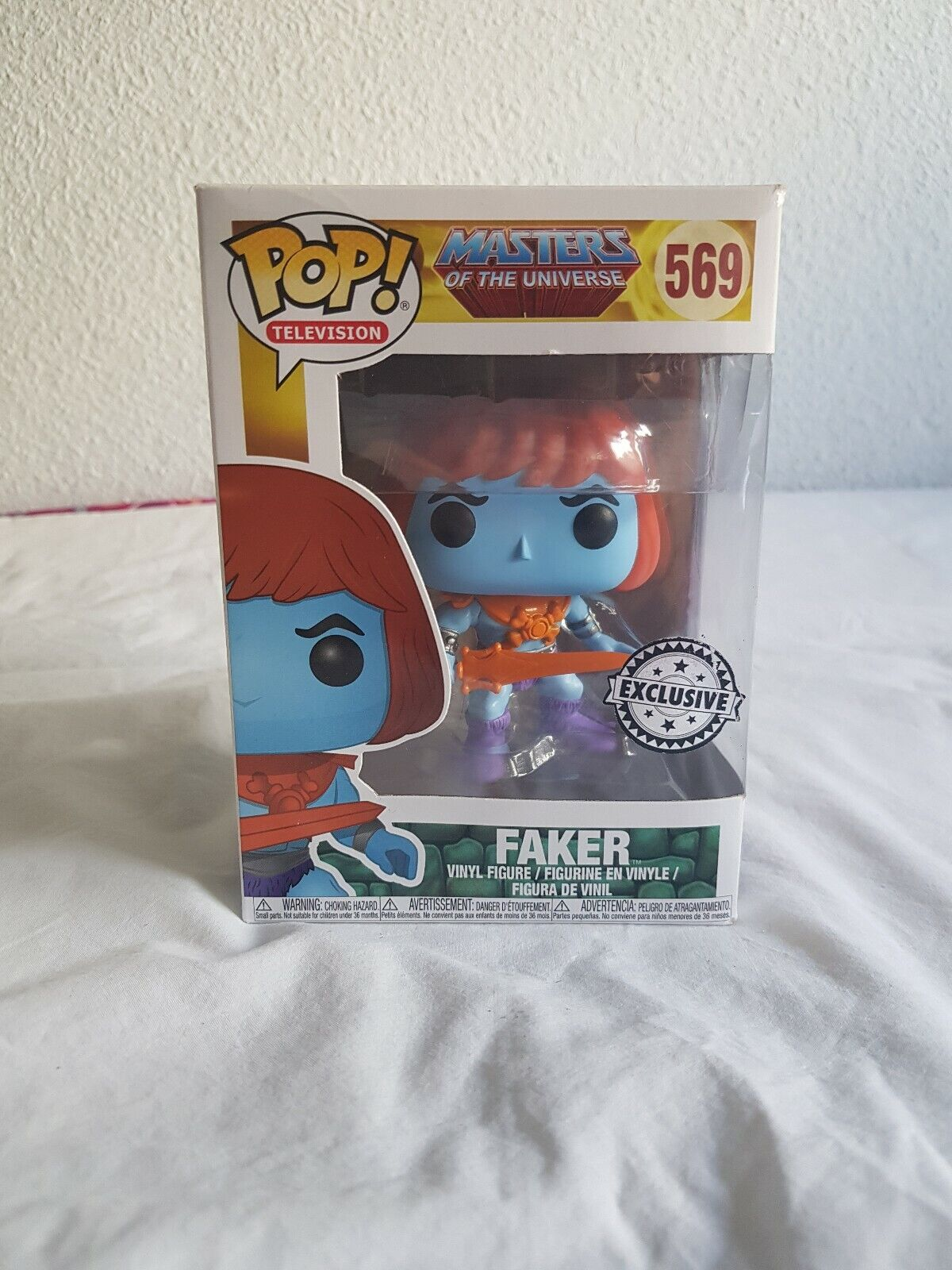 FUNKO POP MASTERS OF THE UNIVERSE FAKER  569 EXCLUSIVE RETIrot BOX DAMAGE VYNIL