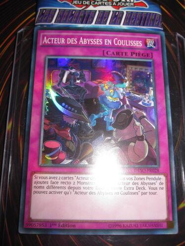 YU-GI-OH SR ACTEUR DES ABYSSES EN COULISSES DESO-FR028 MINT NEUF EDITION 1