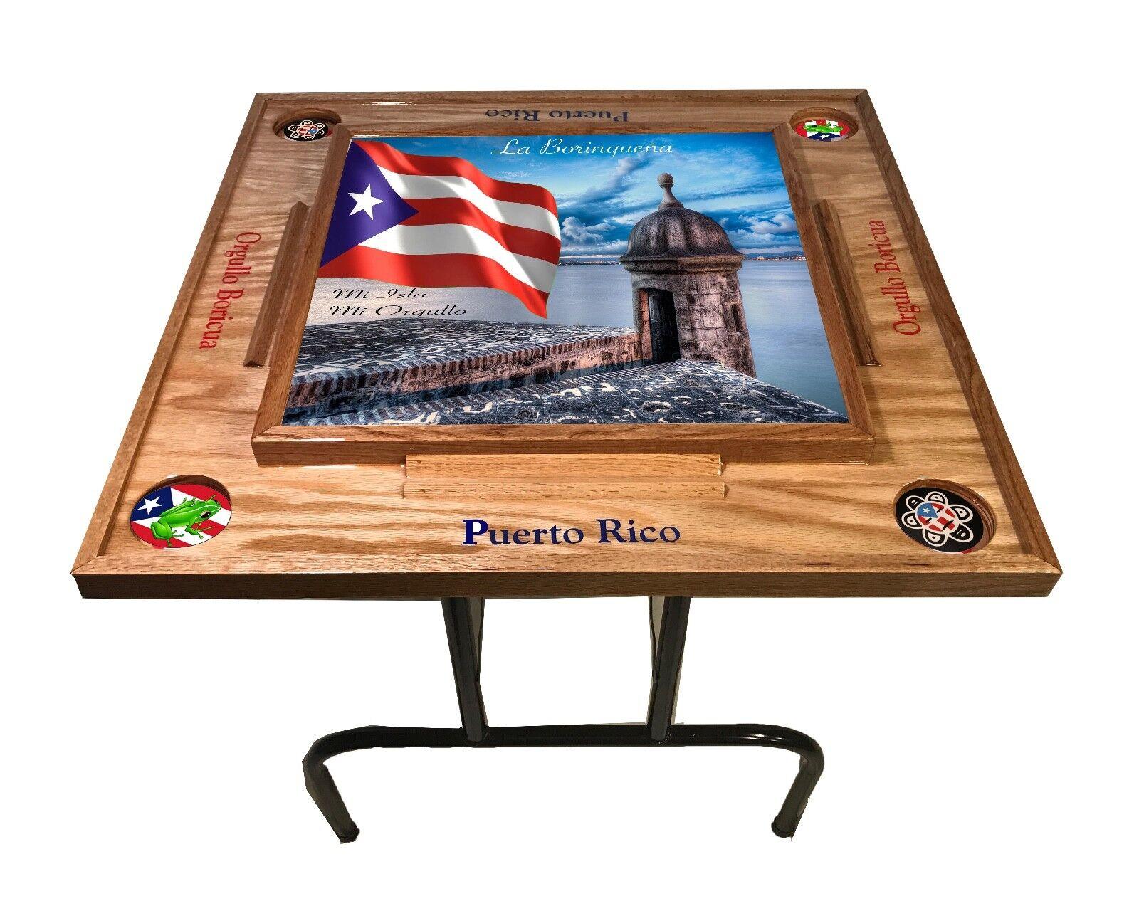 Puerto  Rico Domino Table with the Morro -Natura  molte sorprese