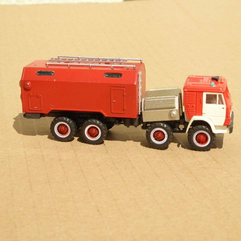 RK Models h0 KAMAZ Fire Truck with GRP superstructure + stairs DDR, CSSR,