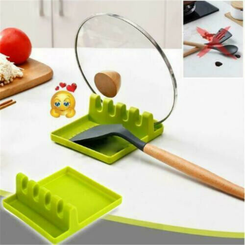 Heat Resistant Silicone Spoon Rest Kitchen Utensil Spatula Holder Cooking Mat