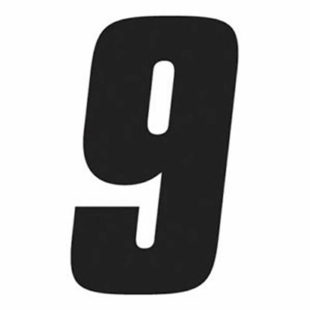 Factory Effex 02-4454 Black 6 Standard Number Graphic