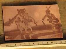 AFRIKA MEDIZINMANN Galvano Druckstock Kupferklischee Druckplatte Druckerei