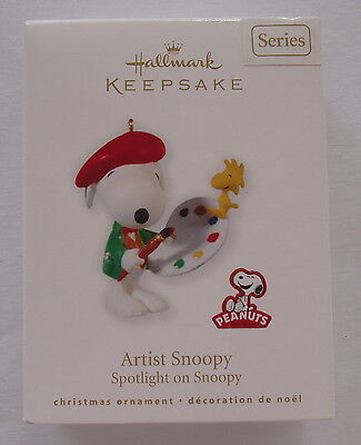 Hallmark 2010 Spotlight on Snoopy #13 Series Artist Peanuts Christmas Ornament