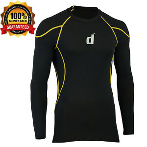 1599cb9299 Details about Didoo Men's Compression Base Layer Tight Fit Long Sleeve  Cycling T-Shirts Jersey