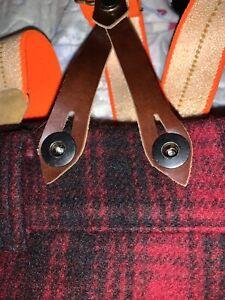 Vintage 50s Woolrich HERREN SZ 34x30 Wolle Buffalo Plaid Jagd Hose mit Hosenträger