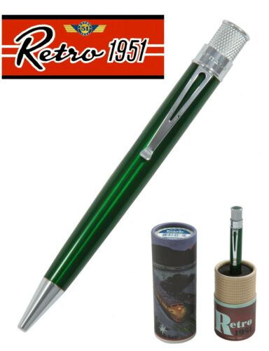 Personalized Green Tornado Twist Action Rollerball Pen Retro 51 #VRR-1314P