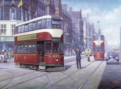 Blackpool Tram Nostalgic Blank Birthday Fathers Day Card