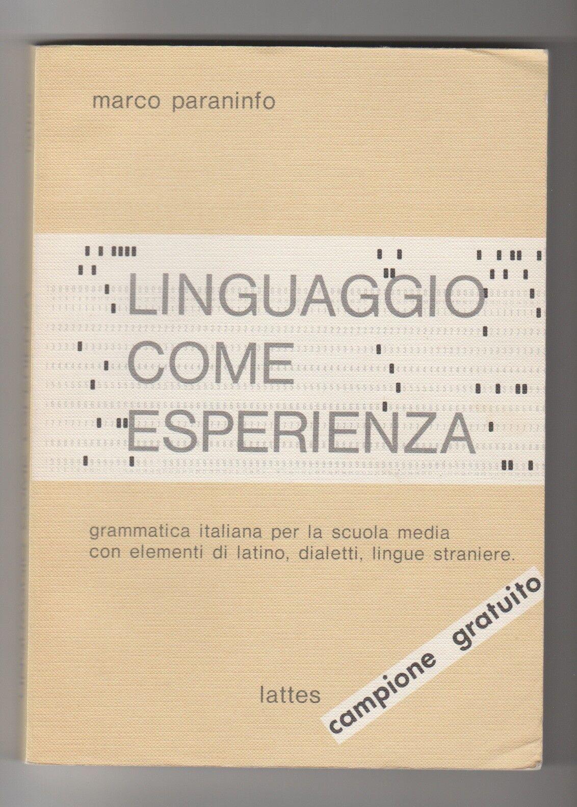 Linguaggio come esperienza