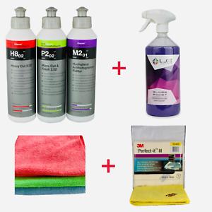 koch chemie politur set liquid elements gloss boost wachs 3m mikrofaser ebay. Black Bedroom Furniture Sets. Home Design Ideas