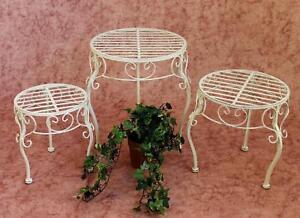 Sgabello romance tondo cm supporto per fiori tavolino