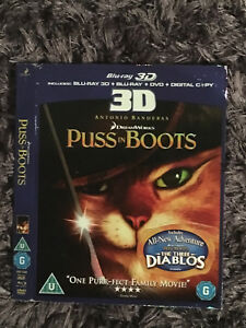 Rare Blu Ray O Ring Slip Cover - Puss In Boots 3D