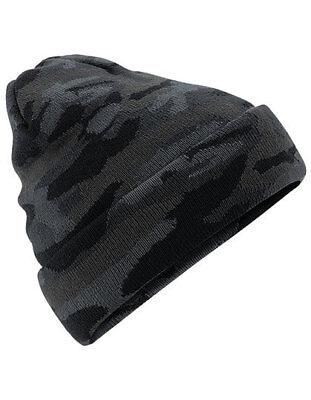 Selbstlos Beanie , Wollmütze Marke Beechfield Camouflage Look