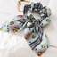 Solid-Floral-Bow-Scrunchie-Hair-Band-Elastic-Hair-Ties-Rope-Scarf-Accessories thumbnail 13