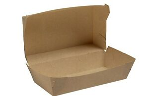 200-x-Cardboard-Enviroboard-Hot-Dog-Tray-Clam-Boxes
