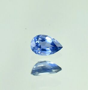 Natural Flawless Montana Blue Sapphire Loose Pear Gemstone Cut 1.25 Ct - 8x5 MM