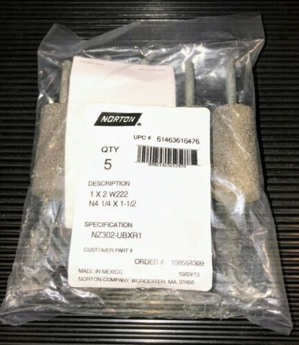 NEW NORTON 61463616476 RESIN MOUNTED POINT 1 x 2  W222  **PACKAGE OF 5**
