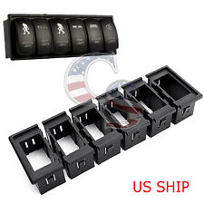 6pcs Housing Gang Rocker Carling Arb Universal Panel Car Led Laser Rocker Switch