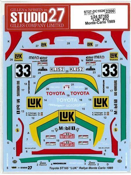 Studio27 1 24 St165 Luk  33 Monte-Cochelo 1989 para Aoshima Dc1024 Calcamonía New