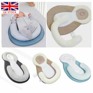 Newborn Baby Anti Roll Head Cushion Pillow Prevent Flat