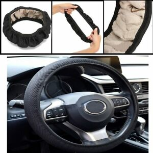 Universal-38cm-Car-Auto-Fabric-Fish-Elastic-Steering-Wheel-Cover-Non-Slip