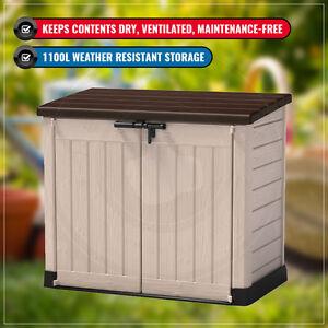 keter store it out max wheeler garbage bin lockable storage garden outdoor shed 7290106922655 ebay. Black Bedroom Furniture Sets. Home Design Ideas