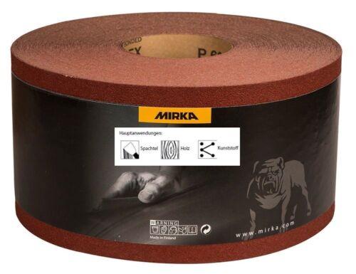 reißfest 115 mm x 50 m Korn 120 Mirka Hiflex Schleifrollen Schleifpapier weich