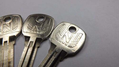 5 NOS National Lock OEM Key Blanks 68-590-1 Ornate Cabinets Vending Locksmith