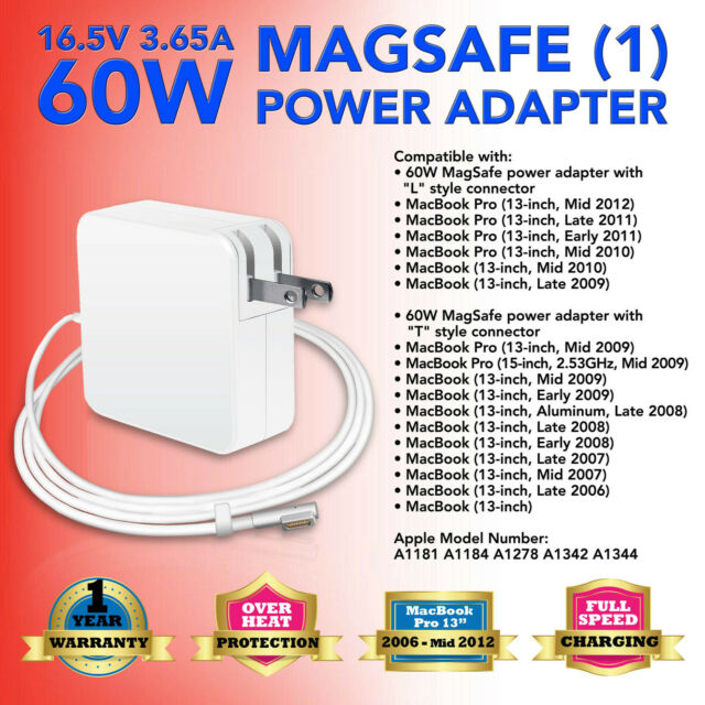 """60W Power Supply Adapter Charger for Apple MacBook Pro 13/"""" A1278 A1342 2006-2011"""