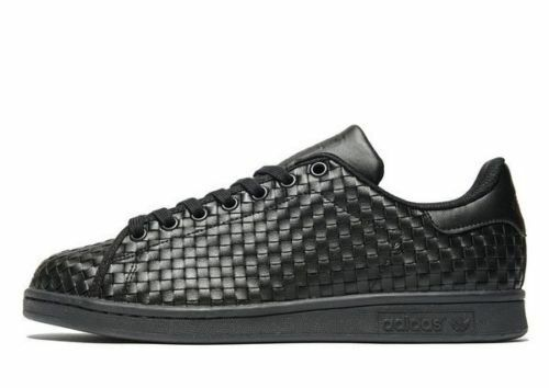 Adidas Originals Stan Smith Weave Men's Trainers All Black Size.UK 7 -UK 12
