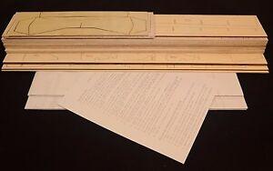 plans & Inst WS 56 in Royal Beechcraft D-17 STAGGERWING Laser Cut Short Kit