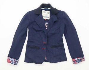 Soul Cal Womens Size 8 Cotton Blend Blue Blazer Jacket