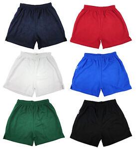 Menes Chicos Chicas Unisex Malla Pantalones Cortos Gimnasio Futbol Americano Deportes Juegos Escuela Pe Pantalones Cortos Ebay