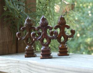 Ten Acorn Finials Iron Cast Wrought Garden Fence Ebay